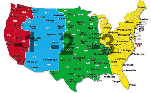 Karta Usa Tidszoner.Gmt 8 1 Kausti Com