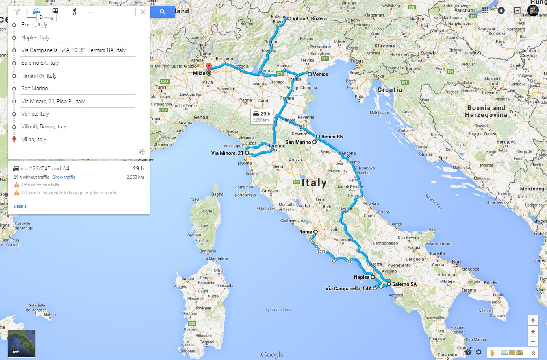 karta italien milano april   2015   Kausti.com karta italien milano
